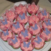 Butterfly Cupcakes A little girl wanted pink and purple cupcakes