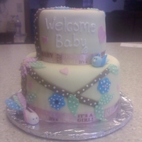 Baby Shower Cake Made to match the babies bedroom theme.
