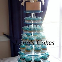 Calla Lillies Wedding Cupcakes Cutting Cake was Vanilla Bean Butter Cake with Vanilla Bean Buttercream colored ivory. Cupcakes are Vanilla Bean with Vanilla Bean...