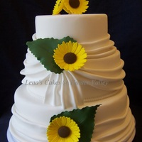 Sunflower Wedding Cake The bride came to me with this beautiful design of Helen The Cake Lady from UK. This is just dummy cake to show the bride. I will make this...