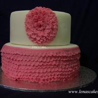 Frilly Cake Bridal Shower inspired by Spanish traditional dress