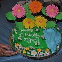 Mom's Birthday Birthday cake for my mother, she loves to garden