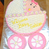 Baby Shower Cake Made this cake for a baby shower at the office. So much fun to do this cake! Thank you to the CC members for all your inspiration!
