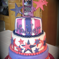 Hailey's Rock Star Cake Buttercream with fondant and gumpaste accents.