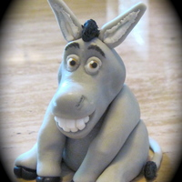 Donkey Donkey is made from gumpaste. I feel like there is still something off with the way he looks but I am done messing with him! LOL TFL