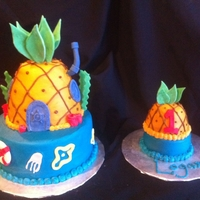 Spongebob Cake And Smash Cake