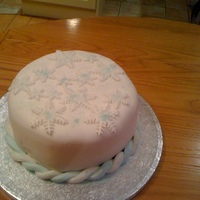 Another Christmas Cake fruit cake covered with almond paste and fondant