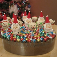 Christmas Cake Pops   Santa and snowmen cake pops. They were really fun to make