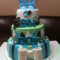 Boy Oh Boy boy baby shower cake