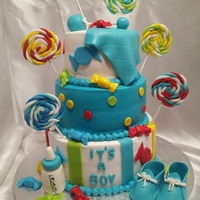 Candy Theme Babyshower Cake Candy theme babyshower cake