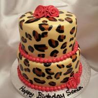 My First Leopard Print Cake All Covered In Fondant My first leopard print cake all covered in fondant