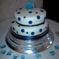 Poka Dot Wedding Cake my first wedding cake