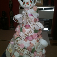 Teapot this was my latest cake inspired by choccywoccydoodah for a bride all hand made by me