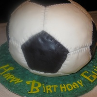 My First Ball Cake My first soccer cake in 8 years of decorating! While there are many things I will do differently next time, I was fairly proud of my first...