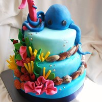 Octopus Reef Birthday Cake