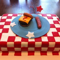 Bbq Themed Cake
