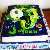 Green Lantern Comic Book Cake  This cake was replicated from an online picture I saw. Green Lantern Comic book. Dominican cake with guava filling all decor was fondant...