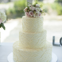 "12 8 And 6 Round Buttercream Cake Flowers Supplied By The Florist The Bride Brought Me A Photo Of A 5 Tier Cake That Was Very Simila  12"", 8"" and 6"" round buttercream cake. Flowers supplied by the florist. The bride brought me a photo of a 5 tier cake that..."