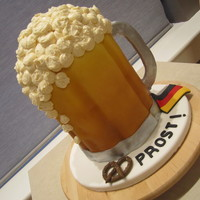 Oktoberfest Beer Stein   Chocolate cake with SMBC. Made for a friend's birthday who was having an Oktoberfest themed party