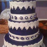 Practice Wedding Cake I made this purple and white wedding cake as an entry in our county fair. I've been asked to do a wedding cake next spring, so thought...