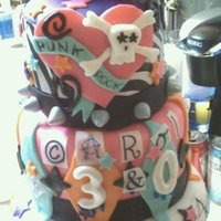 Punk Rock Princess 30 Th Birthday Cake Cake is three flavors: Carrot cake with spiced mango mousse, lemon ricotta with lemon curd, and chocolate with raspberry mousse. Most...