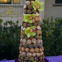 Croquembouche  A modern version of the croquembouche. Individual cream puffs are stuffed with diplomat cream or strawberry white chocolate mousse then...