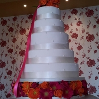 Five-Tier Wedding Cake A mixture of vanilla sponge, chocolate and fruit cakes.
