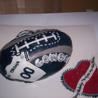 Cowboy Girl Cake THIS CAKE WAS DESIGNED FOR O FEMALE DALLAS COWBOY FAN. I THOUGHT I WOULD ADD A FEMINITE TOUCH
