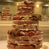 My First Naked Wedding Cake   My first Naked Wedding Cake