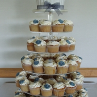 Cupcake Wedding Cake   Wedding Cupcakes in 'Pewter'
