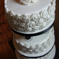 Pillared Rose Wedding Cake