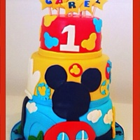 Mickey Mouse Clubhouse Cake Mickey Mouse Clubhouse cake.