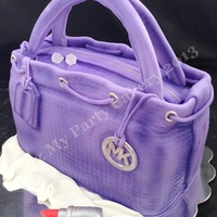 Mk Purple Purse Cake