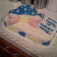 Baby Butt Cake   This is my version of the Baby Butt Cake. The feet were the hardest to do, but not bad for a first effort.