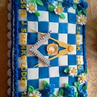 Masonic Thank You Cake I made this cake to thank our Brother Lodge for the free picnic they host each year for the community. It turned out well for a first try....