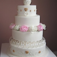Oval Wedding Cake