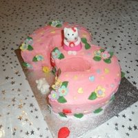 Hello Kitty Cake Hello Kitty for Daisy's 3rd Birthday