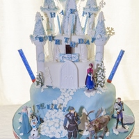 Ellie's 4Th Birthday Cake Disney Frozen Theme Before the fireworks went off