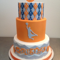 Chevrons Argyle And Basketball For Christians 5Th Birthday Chevrons, argyle and basketball for Christian's 5th birthday