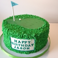 Jason's Golf Cake Birthday cake for a man who really loves golf!