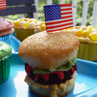Cookout Cupcakes! Cupcake cheeseburgers, corn on the cob, watermelons, and blueberry/cherry pies.
