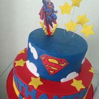 Superman Not my design picure of the cake to recreate was provided by the client