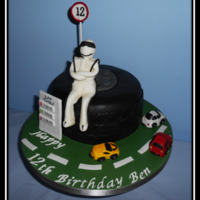 Top Gear Cake Top Gear cake, everything is edible and cars are made out of sugar