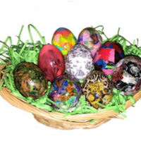 Decoupage Decogelled Easter Eggs...decoeggs! These Easter eggs were decorated easily using several of Icing Images products including: DECOgel, New Premium Colored and Flavored Wafer...