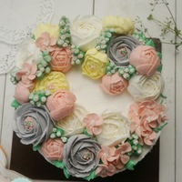 Butter Cream Flower Cake butter cream flower cake
