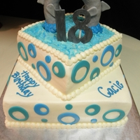 Dolphin Love 2 tiered Dolphin theme for an 18th Birthday Party