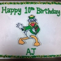 Oregon Ducks Football Sheet Cake Oregon Ducks football sheet cake