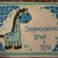Giraffe Baby Shower Cake Giraffe baby shower sheet cake