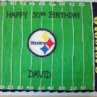 Steelers Football Sheet Cake Steelers football sheet cake made for a friend