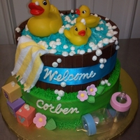 Rubber Ducky Baby Shower Cake My nieces baby shower cake